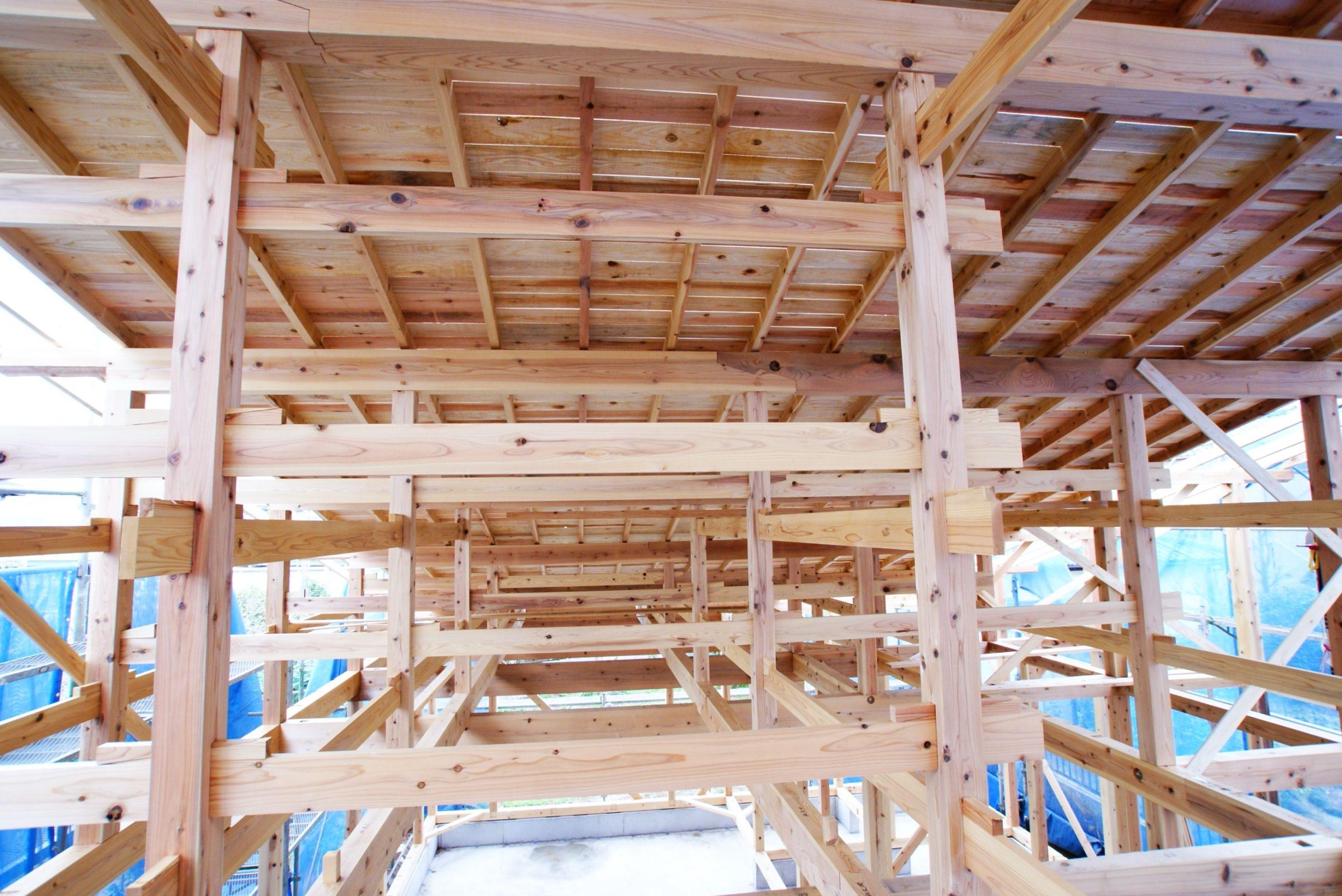 大きな屋根を支える伝統の構造