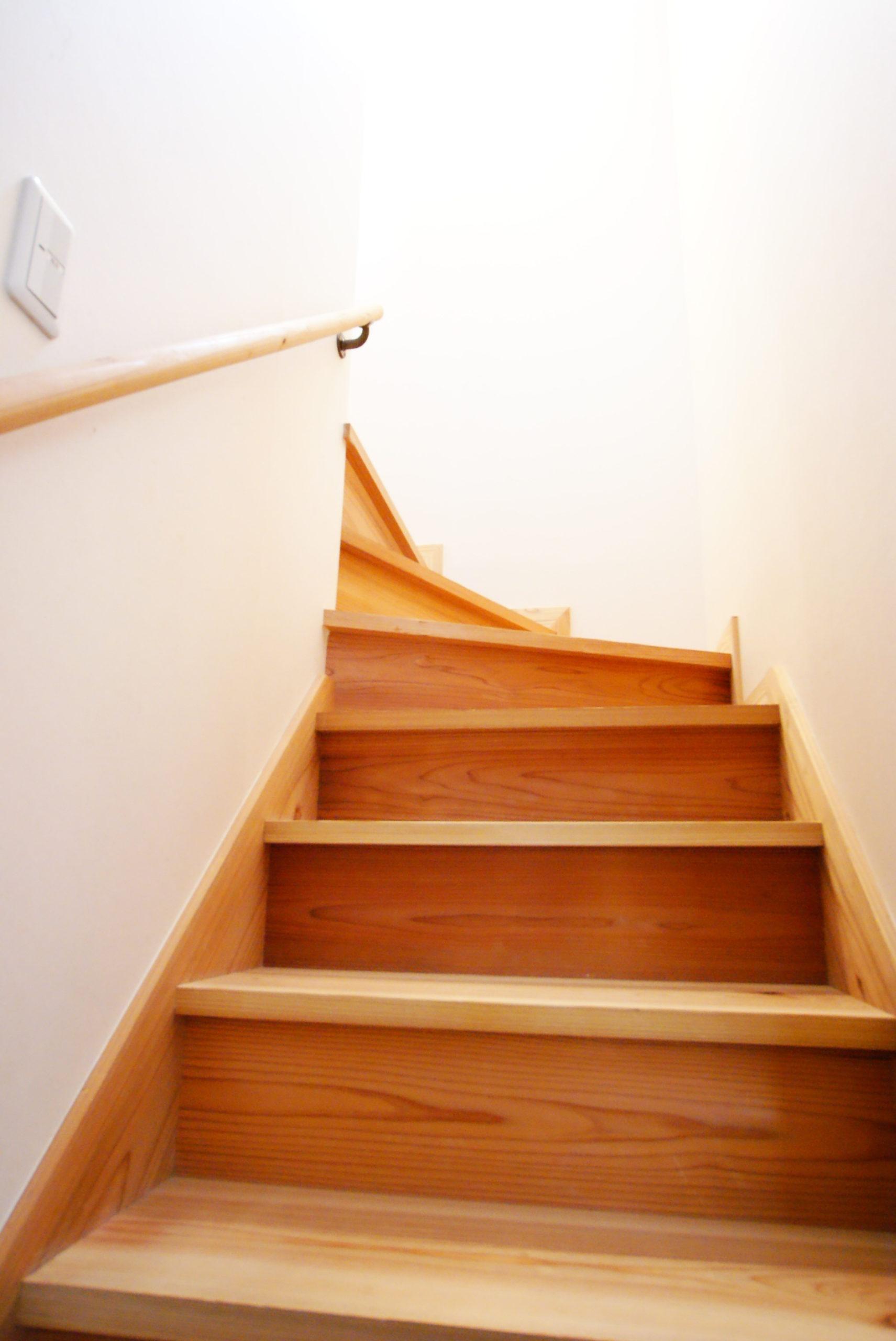こちらも月齢伐採葉がらし天然乾燥材の階段